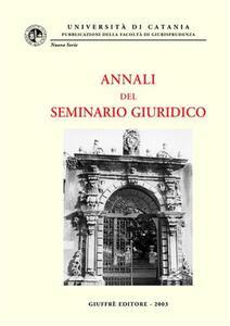 Annali del seminario giuridico (2001-2002)
