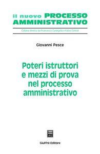 Foto Cover di Poteri istruttori e mezzi di prova nel processo amministrativo, Libro di Giovanni Pesce, edito da Giuffrè