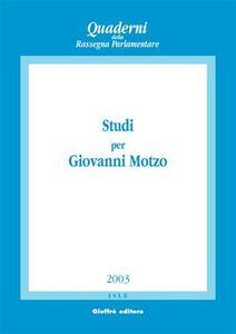 Libro Studi per Giovanni Motzo