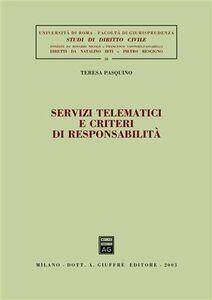 Libro Servizi tematici e criteri di responsabilità Teresa Pasquino