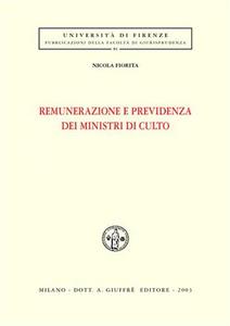 Libro Remunerazione e previdenza dei ministri di culto Nicola Fiorita