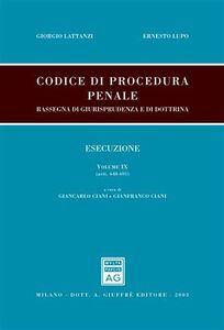 Libro Codice di procedura penale. Rassegna di giurisprudenza e di dottrina. Vol. 7: Giudizio. Procedimento davanti al tribunale in composizione monocratica (artt. 465-567).