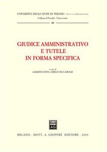 Libro Giudice amministrativo e tutele in forma specifica. Atti della Tavola rotonda (Teramo, 3 maggio 2002)