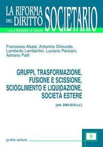 Foto Cover di Gruppi, trasformazione, fusione e scissione, scioglimento e liquidazione, società estere (artt. 2484-2510 C. c.), Libro di  edito da Giuffrè
