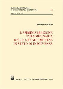 Libro L' amministrazione straordinaria delle grandi imprese in stato di insolvenza Marianna Galioto