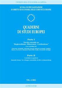 Foto Cover di Quaderni di studi europei (2003). Vol. 2, Libro di  edito da Giuffrè