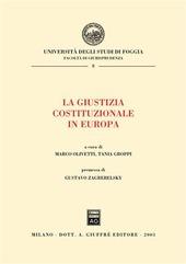La giustizia costituzionale in Europa