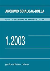 Libro Archivio Scialoja-Bolla (2003). Vol. 1