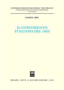 Libro Il concordato italiano del 1803 Daniele Arru