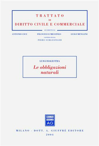 Libro Le obbligazioni naturali Luigi Balestra