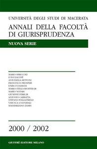 Foto Cover di Annali della Facoltà di giurisprudenza. Università di Macerata (2000-2002). Vol. 5, Libro di  edito da Giuffrè