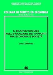 Il bilancio sociale nell'evoluzione dei rapporti tra economia e società