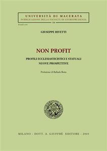 Non profit. Profili ecclesiasticistici e statuali. Nuove prospettive