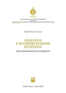 Libro Analogia e interpretazione estensiva nell'ordinamento giuridico Marcello Fracanzani