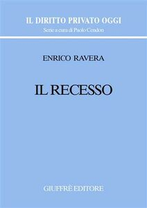 Libro Il recesso Enrico Ravera
