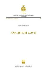Libro Analisi dei costi Arcangelo Marrone