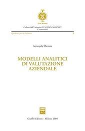 Modelli analitici di valutazione aziendale