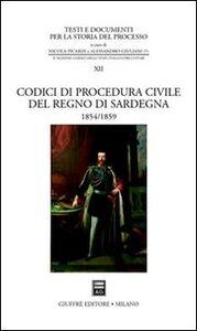 Foto Cover di Codici di procedura civile del Regno di Sardegna, Libro di  edito da Giuffrè