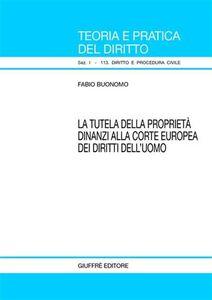 Foto Cover di La tutela della proprietà dinanzi alla Corte europea dei diritti dell'uomo, Libro di Fabio Buonomo, edito da Giuffrè