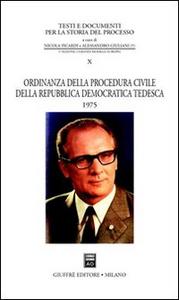 Libro Ordinanza della procedura civile della Repubblica Democratica Tedesca 1975