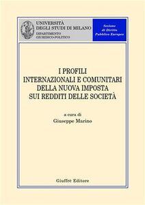 Libro I profili internazionali e comunitari della nuova imposta sui redditi delle società