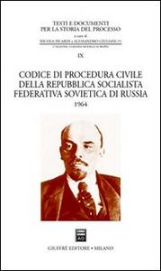 Libro Codice di procedura civile della Repubblica Socialista Federativa Sovietica di Russia 1964