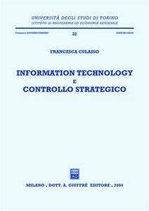 Libro Information technology e controllo strategico Francesca Culasso