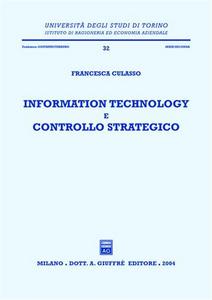 Libro Information technology e controllo strategico Francesca Culasso