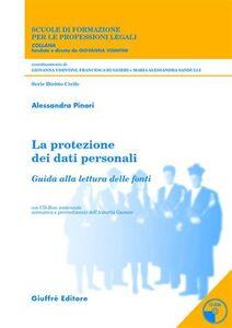 Libro La protezione dei dati personali. Trattamento e misure di sicurezza nei servizi socio-assistenziali erogati da enti pubblici e privati... Con CD-ROM Alessandra Pinori