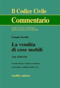 La vendita di cose mobili. Artt. 1510-1536
