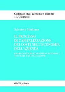 Il processo di capitalizzazione dei costi nell'economia dell'azienda. Problematiche economico-aziendali, tecniche e di valutazione