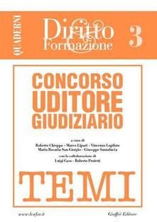 Camfeed.it Concorso uditore giudiziario. Vol. 3: Temi. Image