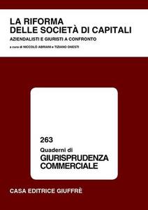 Libro La riforma del diritto societario. Atti del Convegno (Sassari, 2-3 ottobre 2003)