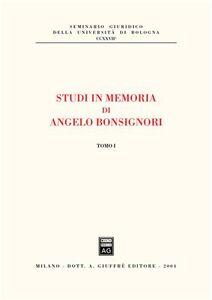 Libro Studi in memoria di Angelo Bonsignori