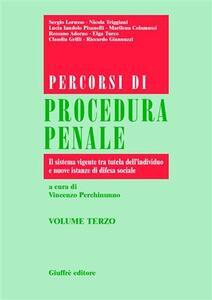 Percorsi di procedura penale. Vol. 3: Il sistema vigente tra tutela dell'individuo e nuove istanze di difesa sociale.
