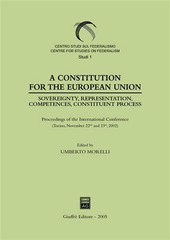 Constitution for the European Union. Sovereignty, representation, competences, constituent process. Proceedings of the International Conference (Torino, 2002) (A)