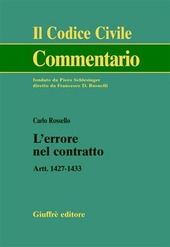 L' errore nel contratto. Artt. 1427-1433