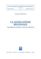 La legislazione regionale. Tra obblighi esterni e vincoli nazionali