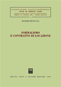 Libro Formalismo e contratto di locazione Maurizio Benincasa
