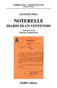 Libro Noterelle. Diario di un ventennio Giuseppe Pera