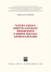 Natura umana, diritto naturale progressivo e ordine sociale: Georges Renard