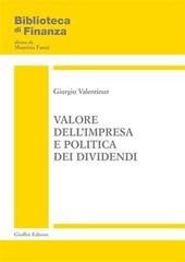 Valore dell'impresa e politica dei dividendi