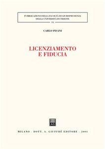Libro Licenziamento e fiducia Carlo Pisani