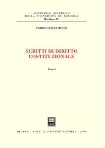 Foto Cover di Scritti di diritto costituzionale, Libro di Enrico Spagna Musso, edito da Giuffrè