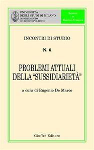 Libro Problemi attuali della «sussidiarietà»