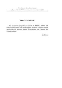 Libro La responsabilità della pubblica amministrazione e dei suoi dipendenti