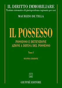 Libro Il diritto immobiliare Maurizio De Tilla