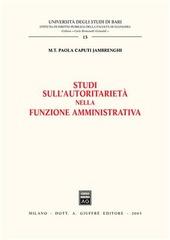 Studi sull'autoritarietà nella funzione amministrativa