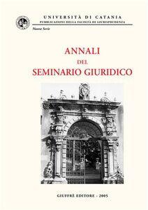 Libro Annali del Seminario giuridico (2003-2004)