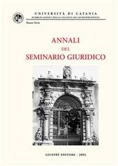 Annali del Seminario giuridico (2003-2004)